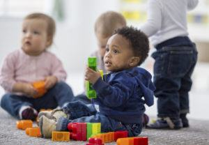 Children playing at a pediatric occupational therapy clinic in Cincinnati