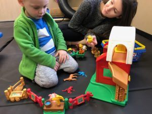 ABC Pediatric Therapy Playing with toys