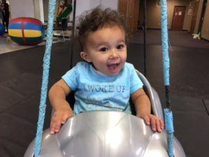 ABC Pediatric Therapy infant in swing