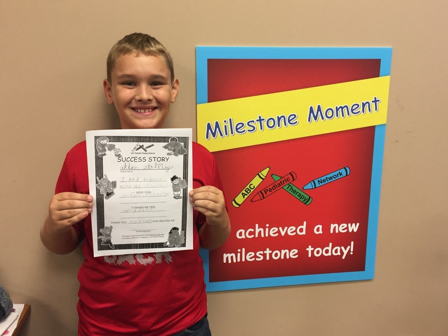 Milestone Moment Success Story Mr. Stallings